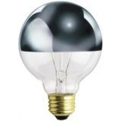 Westinghouse 03156 G25 40 Watt Medium Base 1/2 Chrome Incandescent Lamp